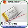 Hot sale rechargebale lithium polymer batteries 3.7v 350mah for 3D glasses