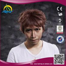 Quality guaranteed kanekalon japanese natural hair wig for men