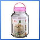 3500ml wholesale large glass storage bottles & jars with plastic folding handle