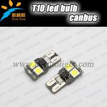 Car T10 LED bulb W5W 4SMD 5050 Interior Dome lamp license plate light 80LM high brightness led map light
