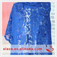 Embroidery fabric fashion design high quality bright color beautiful lace India saree lace