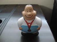 Doctor shaped PU stress toy