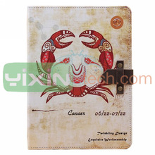 Retro Cancer Pattern Folio Stand Case For iPad Air Leather Case