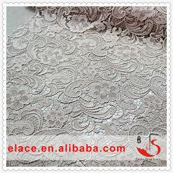 Elegant bridal border lace knitting machine lace champagne lace for wedding dresses