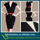 Latest women lady black office formal korean models dress