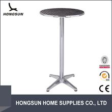 Outdoor aluminum high top wine barrel used long narrow bar tables