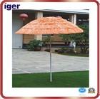 straw beach umbrella
