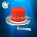 Caliente venta portátil estufa de gas de la válvula y gorras rojas