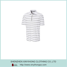 White and Black Combination Cotton Polo Shirts Fabric