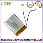 2014 Hot Selling Small Lithium Polymer Battery 3.7v 1400mah Battery Rechargeable With Connector and PCM from LYW