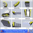 Peripheral Cutters/tungsten carbide shield machine parts/brazed tools
