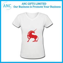 promotional cheap custom brand wholesale deep v neck t shirts for men