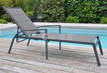 Aluminum folding beach lounger cheap cheap lightweight portable sun lounger