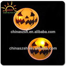 Halloween party promotional item led flashing badge made in Shenzhen,China