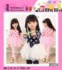 2014 Fashionable SweetLovely Polka Dots Design Wholesale Long Sleeve Net Veil Princess One Piece Dress