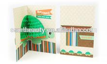 Handmade Craft 3D Greeting Honeycomb Card