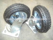 5x1.5 fixed rubber wheel 5x1.5 swivel rubber caster