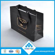 Newest Design customer logo printed Paper Handbag Paper Carrier Bag