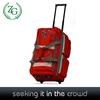 New Design Red 8 pocket Rolling Duffel Bag , luggage bag for travel
