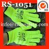 fluorescent yellow safety working gloves