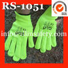 RILIN SAFETY NYLON FLUOrescent yellow safety working gloves,fluorescent yellow gloves,,fluorescent yellow nylon working gloves