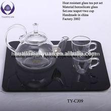 Hot-selling borosilicate pyrex glass commercial tea pot
