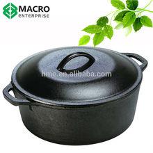 Season cast iron dutch oven/cookware