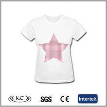 low price austrilia 100% cotton new design 2014 korea t-shirt lady fashion