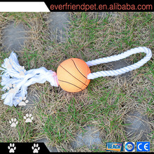 2014 newest rubber basketball rope pet toys