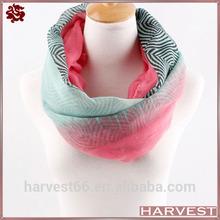 Ladies gradient color stripe tube fashion hijab scarf
