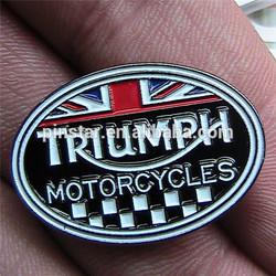 TRIUMPH MOTORCYCLE BIKER PIN BADGE MOTORBIKE MOTOR BIKE CYCLE RACING