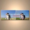 modern popüler el yapımı hayvan fotoğraf boya tuval