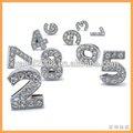 De cristal del alfabeto de bricolaje para la pulsera, cartas de bricolaje venta al por mayor
