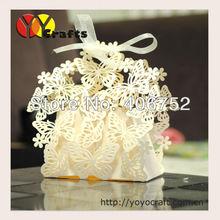2014 wedding decorations small laser cut european wedding souvenir cake and sugar sweet box