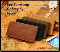 Retro Leather flip case cover for SAMSUNG Galaxy S4 i9500