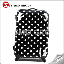 pvc luggage with logo print freely four wheels super light luggage