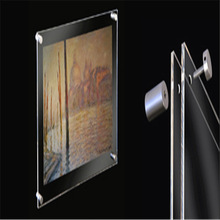 top level acrylic wall mounted picture frame with screws hot sale