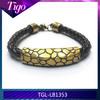 Handmade antique bronze charm leather bracelets india