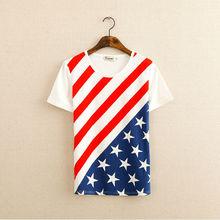 china import sublimation printing american flag t shirt