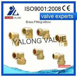 plumbing brass compression fittings YLC259