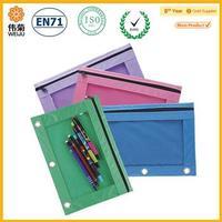 Nylon fabric pencil bag for binder
