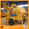 Alibaba China self loading mobile portable diesel concrete mixer