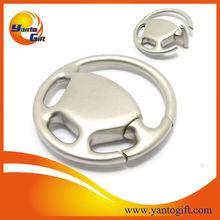 Custom logo engrave steering wheel metal keychain