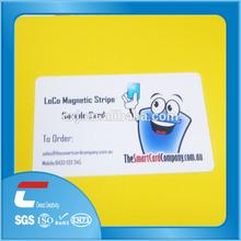 loco magnetic stripe sample card glossy finish cool design