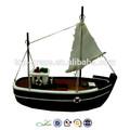 lembrança de navio viking em miniatura