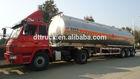 China manufacturer stainless steel/carbon steel/aluminum large capacity aluminum alloy fuel tank semi trailer