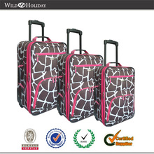 600D polo printed animal color luggage case