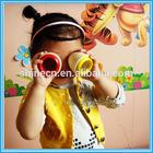 Manufacture Custom Cheap New Design Mooden Mini Outdoor Polygonal Glasses Sensory Kaleidoscopes Kid Toy