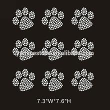 Mini Paw Prints Iron On Rhinestone Transfer Design