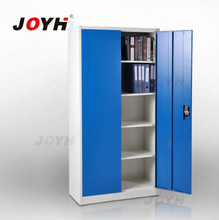 Blue swing door storage cabinet on promotion
